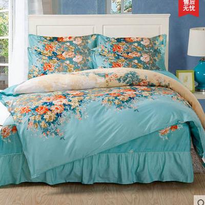 床裙床品四件套 纯棉床罩式四件套全棉