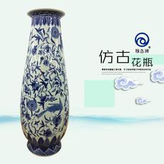 雅缶牌陶瓷 大埔厂家直销 青花花瓶批发 14寸玉兰瓶(140301)