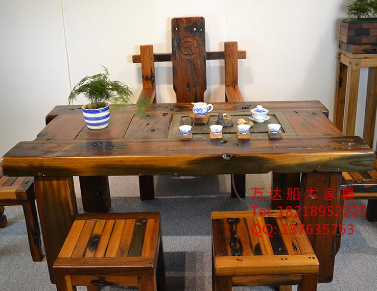 老船木茶桌供应,老船木家具厂家,老船木茶几茶台价格