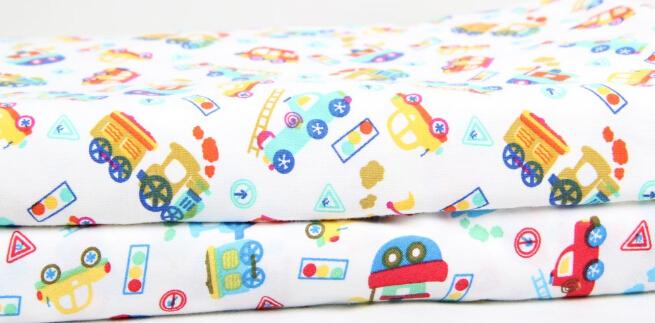 供应新款儿童棉莱卡内衣套装印花布料