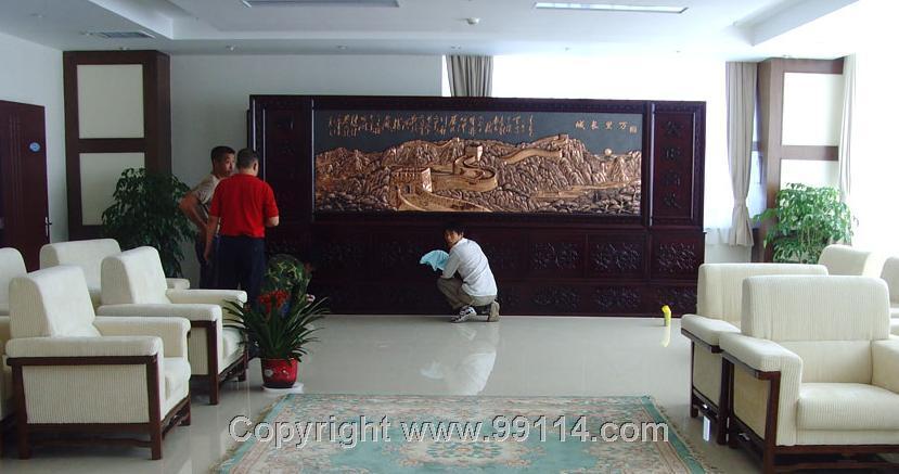 批量大型紫铜浮雕长城实物图