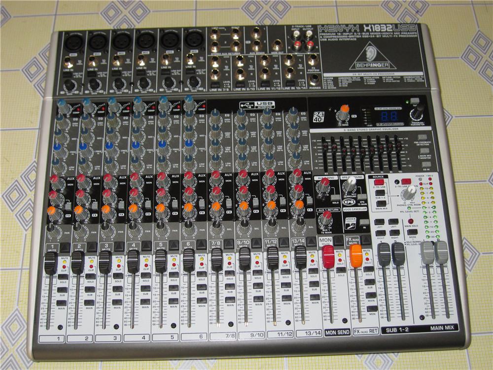 百灵达调音台X1832USB 专业录音数字舞台调音台 14路带效果器声卡