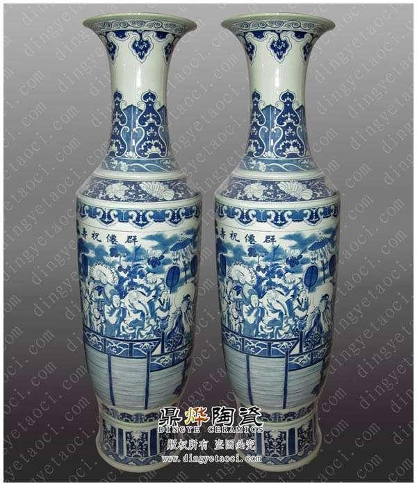 批发陶瓷大花瓶 景德镇陶瓷花瓶 工艺品花瓶 青花花瓶