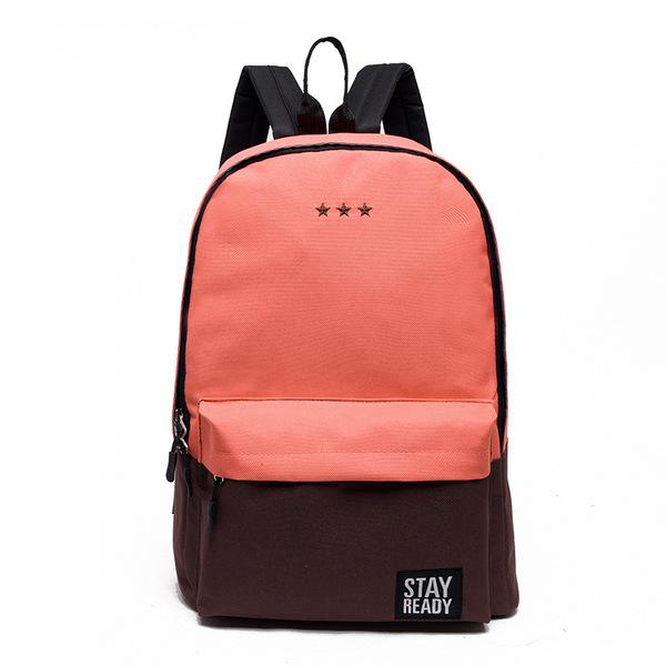 2016新款包包韩版小清新拼色双肩包学院风百搭流行背包休闲女包