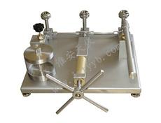 不锈钢底板台式手动水压源