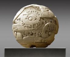 石雕球形浮雕