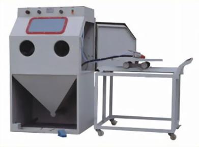 2015年喷砂机正品、高品质手动推车转盘式喷砂机