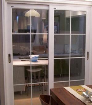 南京陽臺客廳廚房推拉門鈦鎂鋁合金雙層中空鋼化玻璃隔斷移門定做