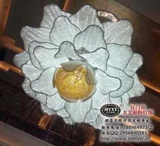 艺术花朵水晶灯 编织艺术水晶灯 艺术造型水晶灯 酒店工程艺术灯 非标工程水晶灯 现代艺术水晶灯定制