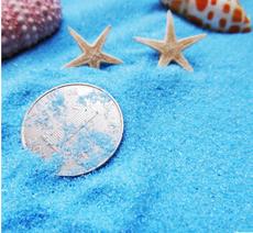 500克天蓝色细石英砂浅蓝色 装饰细沙地中海蓝婚礼地台微景观装饰