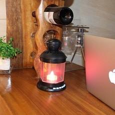 厂家电子礼品定制|新热销LED复古风马提灯|蓝牙音响
