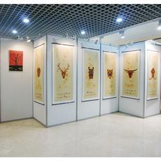 厂家直销 八棱柱屏风 书画展览 宣传展示展板 折叠展示架