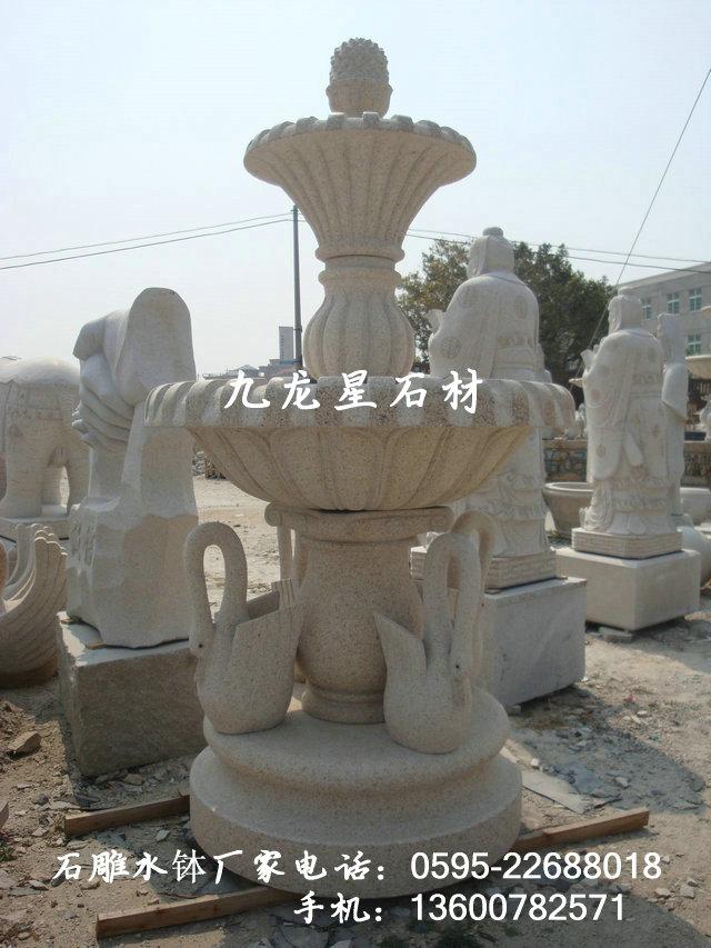 欧式石雕 雕刻水景跌水钵流水喷泉