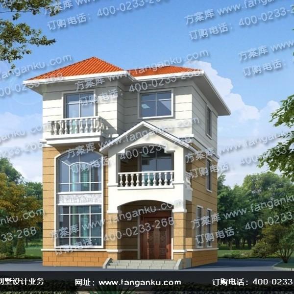 造价占地面积70平方米农村15万左右三层别墅设计图小型最新层三房屋图片