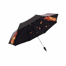 防晒小黑伞防紫外线雨伞单层太阳伞创意折叠公主遮阳黑胶伞批发