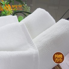 纯棉酒店白色小方巾批发 餐厅方巾定制 梦妃丝纯棉毛巾现货直销