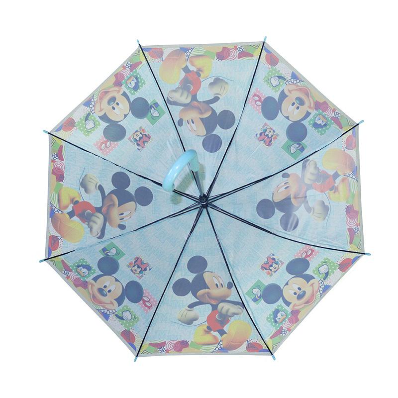 现货批发儿童雨伞 卡通米奇米妮雨伞poe环保小学生直柄伞创意童伞图片