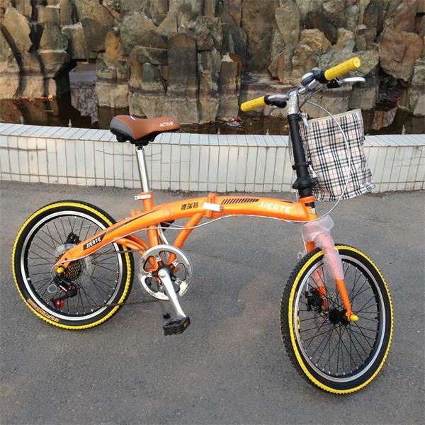 爆款20寸学生折叠车 7级超轻变速自行车