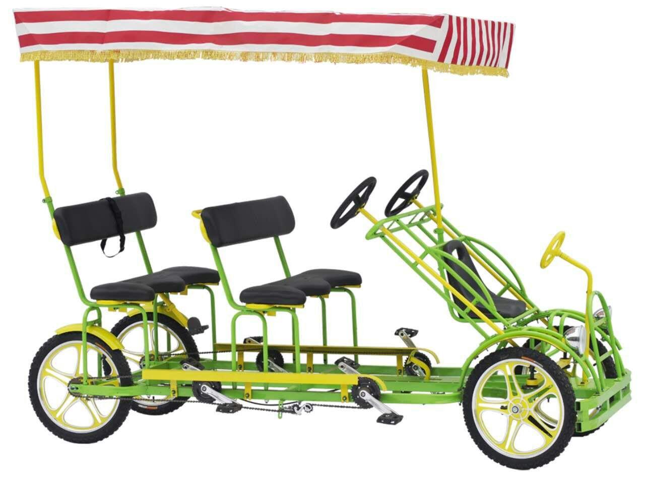 四人豪华休闲大四轮观光旅游自行车代步自行车