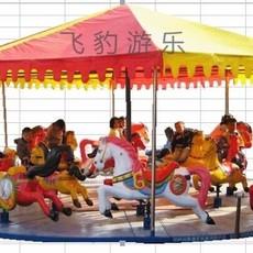 12座折疊簡易轉馬 廟會折疊轉馬價格 大型兒童游樂設備