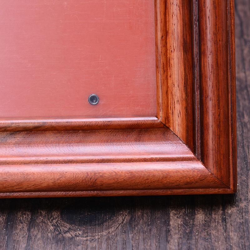 田园创意组合照片中式复古高档 实木摆台挂墙相框 紫檀红木 新款