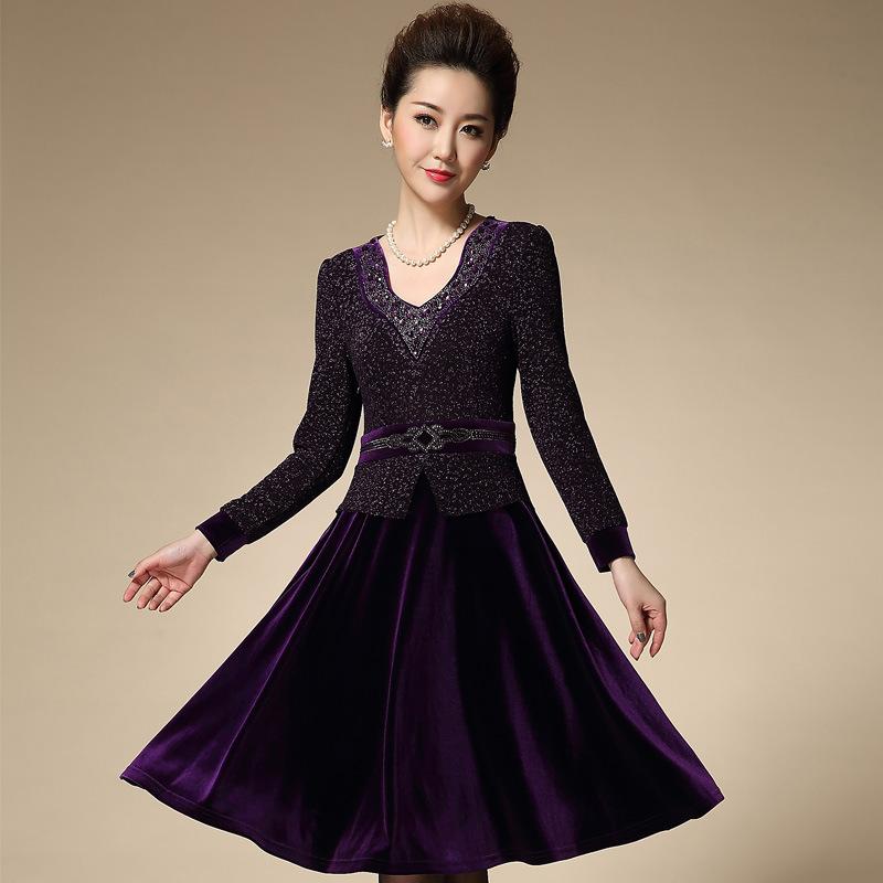 金丝绒连衣裙正品
