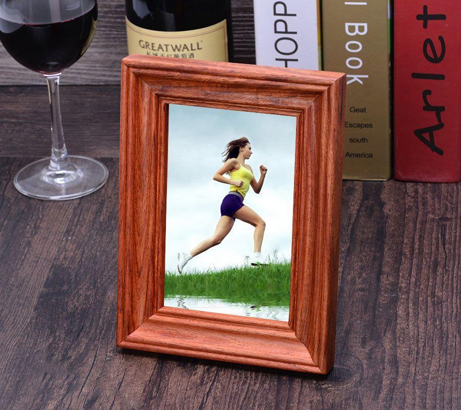 紫檀红木 实木摆台挂墙相框 创意组合照片明式平面立体复古高档