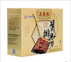 无锡土特产 三凤桥4盒装精品酱排骨大礼盒 无锡排骨 特产礼品礼盒