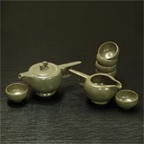秘色剑胆茶具   卢钧窑仿古怀旧风古典类茶具