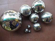 不锈钢圆球雕塑展览展示道具