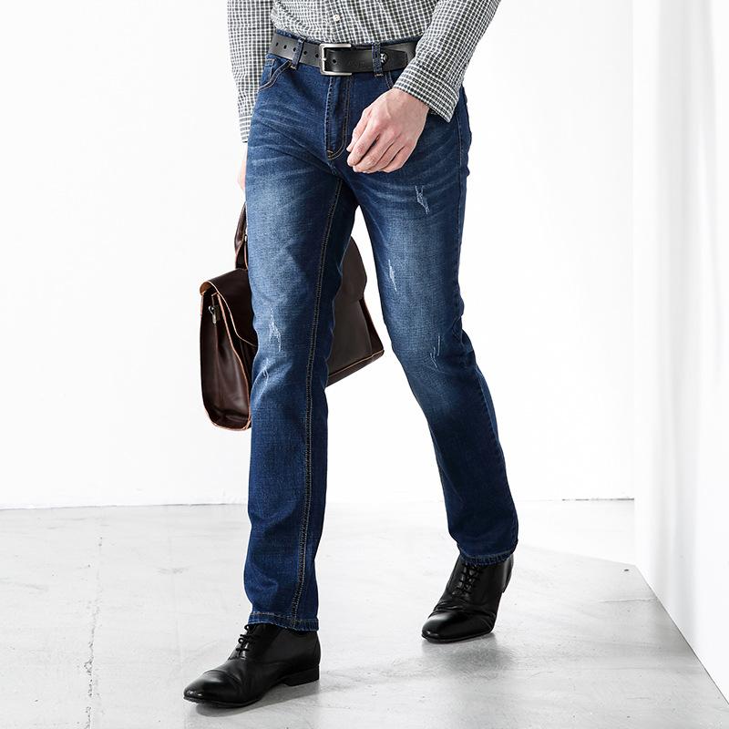 春夏男式牛仔裤  男装修身长裤  商务直筒裤  牛仔裤男士弹力裤