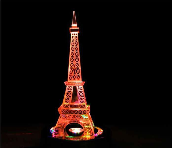 创意定制水晶埃菲尔铁塔模型巴黎艾菲尔摆件送女