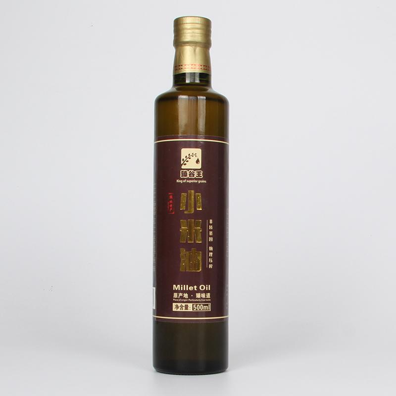 新品非转基因物理压榨食用油高端单瓶小米油 500ml