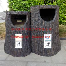 四川驰升专业供应度假村仿树皮垃圾桶 仿木垃圾桶