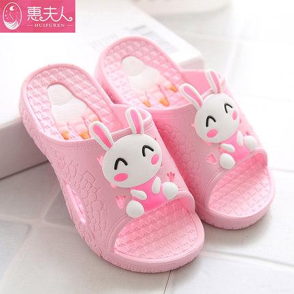 凉拖鞋家居防滑可爱卡通男童女童木地板软底宝宝拖鞋
