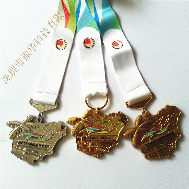 高档新款锌合金马拉松奖牌 金属运动会奖牌来图来样定做