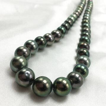 供应 天然海水珍珠大溪地黑珠 8-11mm 强光 微瑕 孔雀绿