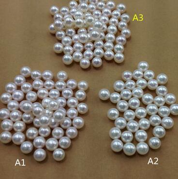 供應 AKOYA日本天然海水珍珠裸珠 正圓極強光8-8.5mm定制批發
