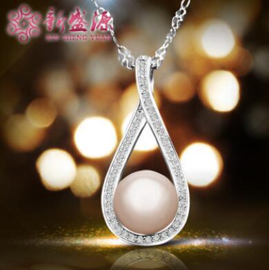 供应 新品上市S925纯银微镶天然珍珠项坠