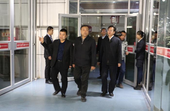 省人大常委会副主任马青林一行领导来我公司调