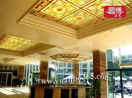 欧式教堂彩绘玻璃 彩绘玻璃穹顶-供应展示-中国橄榄图片