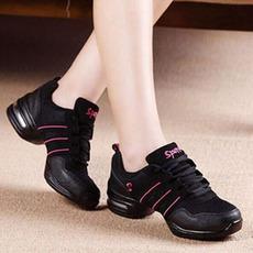 新款健身广场库存跳舞鞋760黑粉舞蹈鞋女鞋