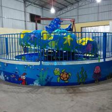 大家颤 迪斯科转盘 儿童游乐设备厂家郑州隆生 海洋魔盘