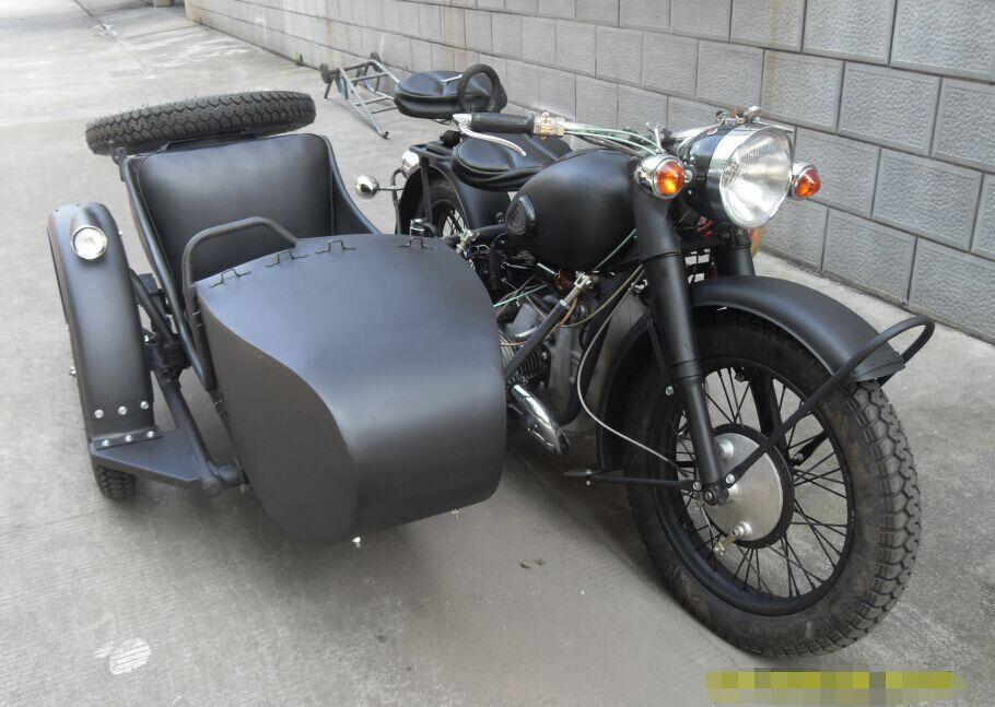 定制款磨砂黑长江750边三轮摩托车
