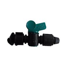 销售园林大棚田间节水灌溉用旁通阀 锁母旁通阀 塑料开关 DN16 20厂家直销