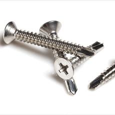 供应烁泰 M4.2 M4.8 410不锈钢平头沉头十字钻尾螺丝自攻自钻螺钉燕尾丝
