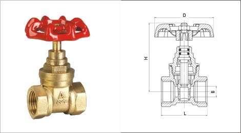 进口黄铜闸阀|德国进口黄铜闸阀安装结构图/美国约克