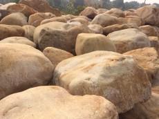 供应园林石、景观石圆润的50到80公分、华南地区最大的黄腊石批发基地