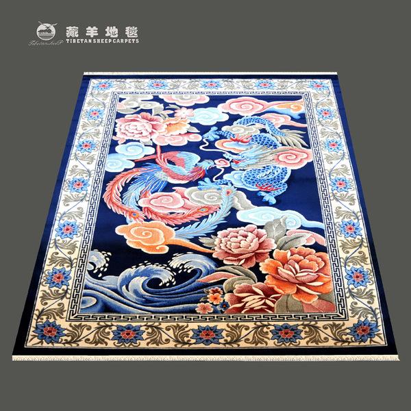 藏羊地毯直销2x3米青花仿古羊毛地毯价格–中国网库