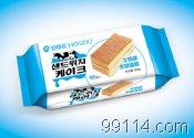 好食多袋装夹层蛋糕【牛奶味】韩国休闲零食品/烘烤类糕点/方块蛋糕/方形蛋糕/